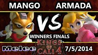 KoC 4 - C9 Mango (Fox) Vs. P4K EMP | Armada (Peach) SSBM Winners Finals - Smash Melee