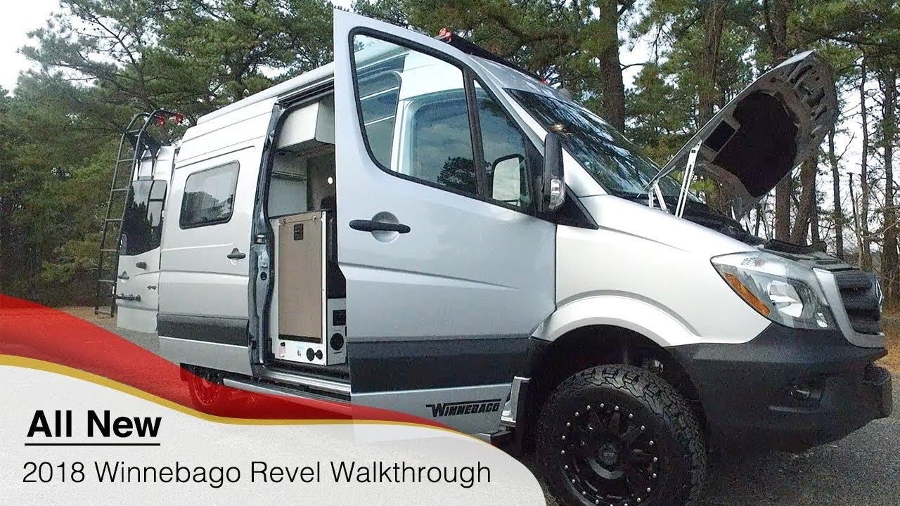 5459aec1bb Walk Through 2018 Winnebago Revel 44E 4x4 4wd Short Mercedes Sprinter Off  Road