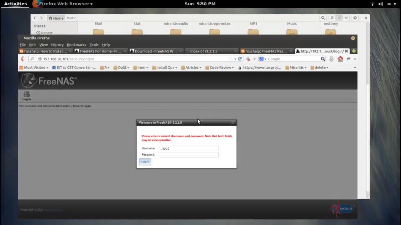 FreeNAS Reset or Recover webGUI Password