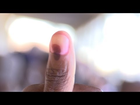 Nyanga residents vote in Cape Town on Election Day 2014