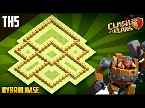 NEW BEST  TH5 HYBRID/TROPHY[defense] Base 2018!!  Town Hall 5 Hybrid Base Design - Clash Of Clans