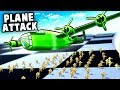 Amazing BOMBER PLANE Attack!  Paratrooper Drops! (Attack On Toys Part 2)