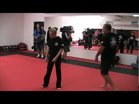 Krav Maga Demo At Bas Rutten's Elite MMA Gym