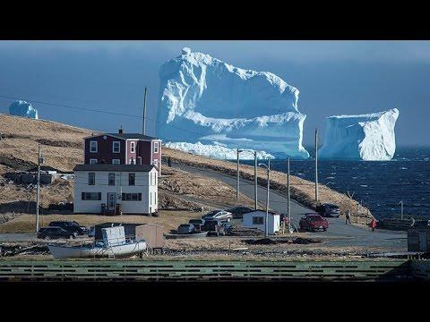 GIGANTE ICEBERG APARECE EN FERRRYLAND, CANADA 20 DE ABRIL DE 2017