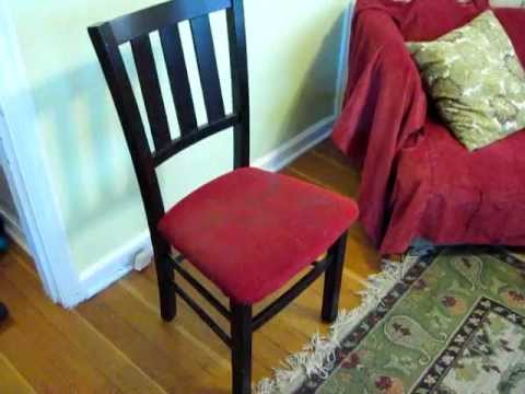 How To Upholster A Chair Seat Part 1 Dismantle The Old Cushion