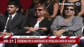 Presidente Kuczynski presidió ceremonia por XX aniversario de operación Chavín de Huántar