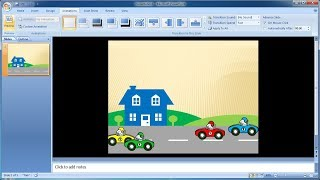 PowerPoint training |How to create custom animations of cars in PowerPoint