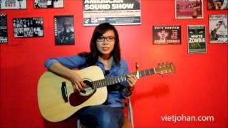 Butterfly fly away - Vân Trang ( lớp guitar Việt johan )