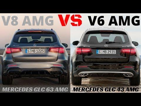 V8 AMG VS V6 AMG. GLC 63 VS GLC 43 PURE MERCEDES AMG SOUND.