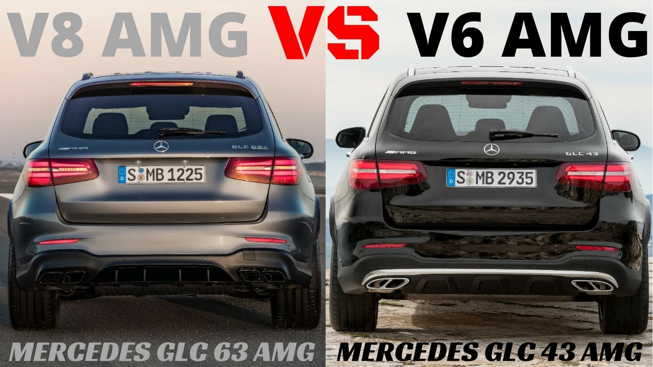 V8 AMG VS V6 AMG GLC 63 VS GLC 43 PURE MERCEDES AMG SOUND