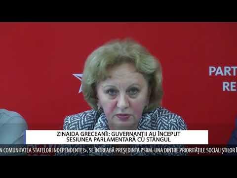 ZINAIDA GRECEANÎI: GUVERNANȚII AU ÎNCEPUT SESIUNEA PARLAMENTARĂ CU STÂNGUL