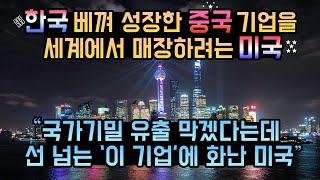 한국 베끼며 선 넘는 중국에 뿔난 미국, 본보기로 기업 하나를 매장하고 있다