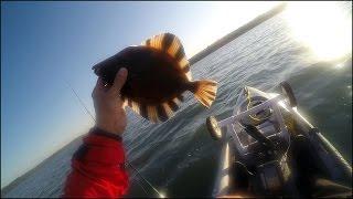 Рыбалка на Полосатую Камбалу (Морской лев, Шторм и т.п.)(Какая то просто сумасшедшая рыбалка в первый раз на новом месте - индейские резервуации, шторм, водоросли,..., 2015-10-07T14:01:37.000Z)