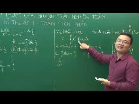 Hướng dẫn giải toán trên Casio - Giải toán tích phân - Thầy Lưu Huy Thưởng