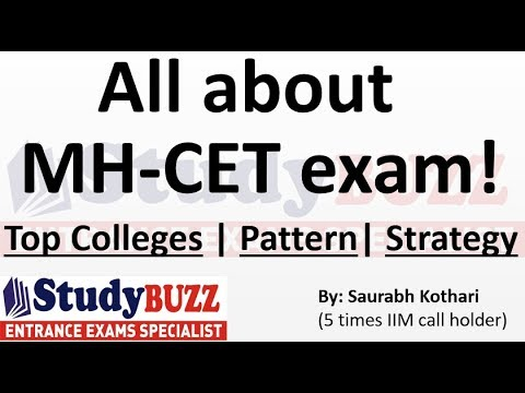 All About MH-CET exam!  Top colleges- Exam Pattern- Strategy