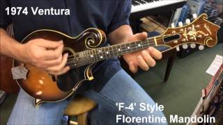1974 Ventura Florentine Mandolin F-4 Style