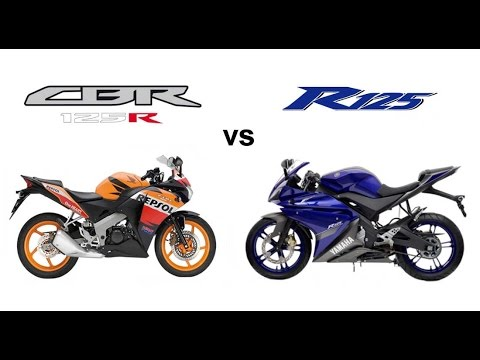 honda cbr125r 39 13 vs yamaha yzf r125 39 13 youtube. Black Bedroom Furniture Sets. Home Design Ideas