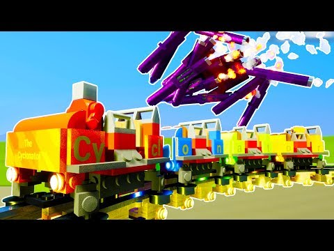LEGO ROLLER COASTER OBLITERATED BY ROCKET CLUSTER! - Brick Rigs Workshop Creations Gameplay