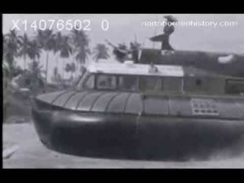 World's First Hovercraft SR.N5 Tested in Tawau British North Borneo