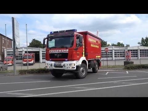 Einsatzfahrten der Feuerwehr Hückelhoven zu Ölspur + OrgL-Nord Kreis Heinsberg