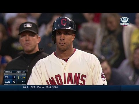 TB@CLE: Brantley singles for his 200th hit of season