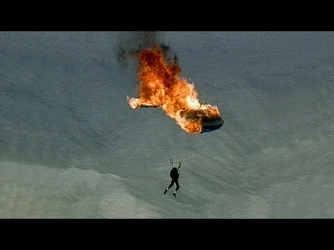 Parachute on Fire - Skydiving Stunts - Troy Hartman