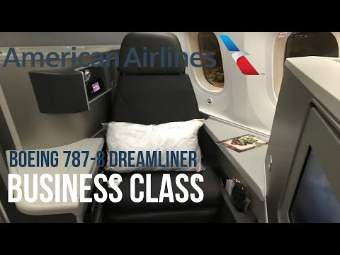 American Airlines Business Class Boeing 787 Dreamliner Tokyo - Los Angeles アメリカン航空ビジネスクラス東京羽田-ロサンゼルス
