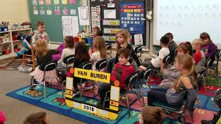 The Story of Rosa Parks by Van Buren's kindergarten, Mrs.  Halpin's class