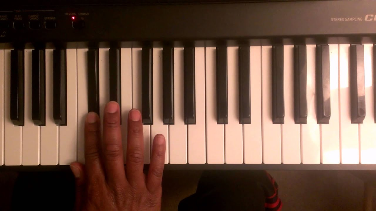 how to play b on piano
