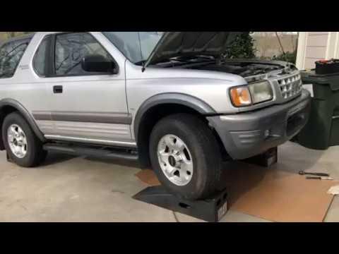 Isuzu Amigo Rodeo Starter Solenoid Clicking? Locating Starter On 3.2 Liter V6