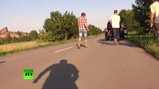 Журналисты телеканала «Звезда» попали под обстрел на границе с Украиной