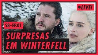 DAENERYS, JON SNOW E A RECEPÇÃO EM WINTERFELL | Game of Thrones S08E01 (COMEÇA ÀS 21H)