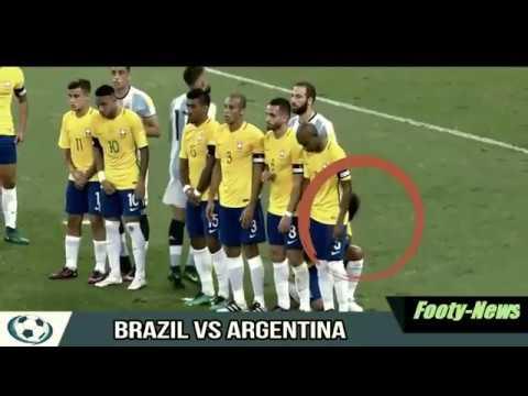 Brazil vs Argentina 3-0 ● Marcelo strange free kick wall vs Messi ● World Cup Qualifiers 2016