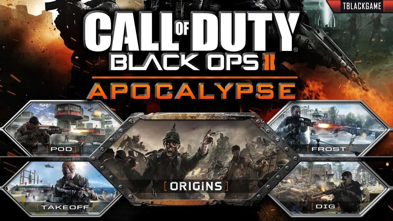 Group of Black Ops 2 Dlc on