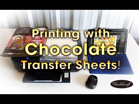 Print Images Photos Using Chocolate Transfer Sheets Youtube
