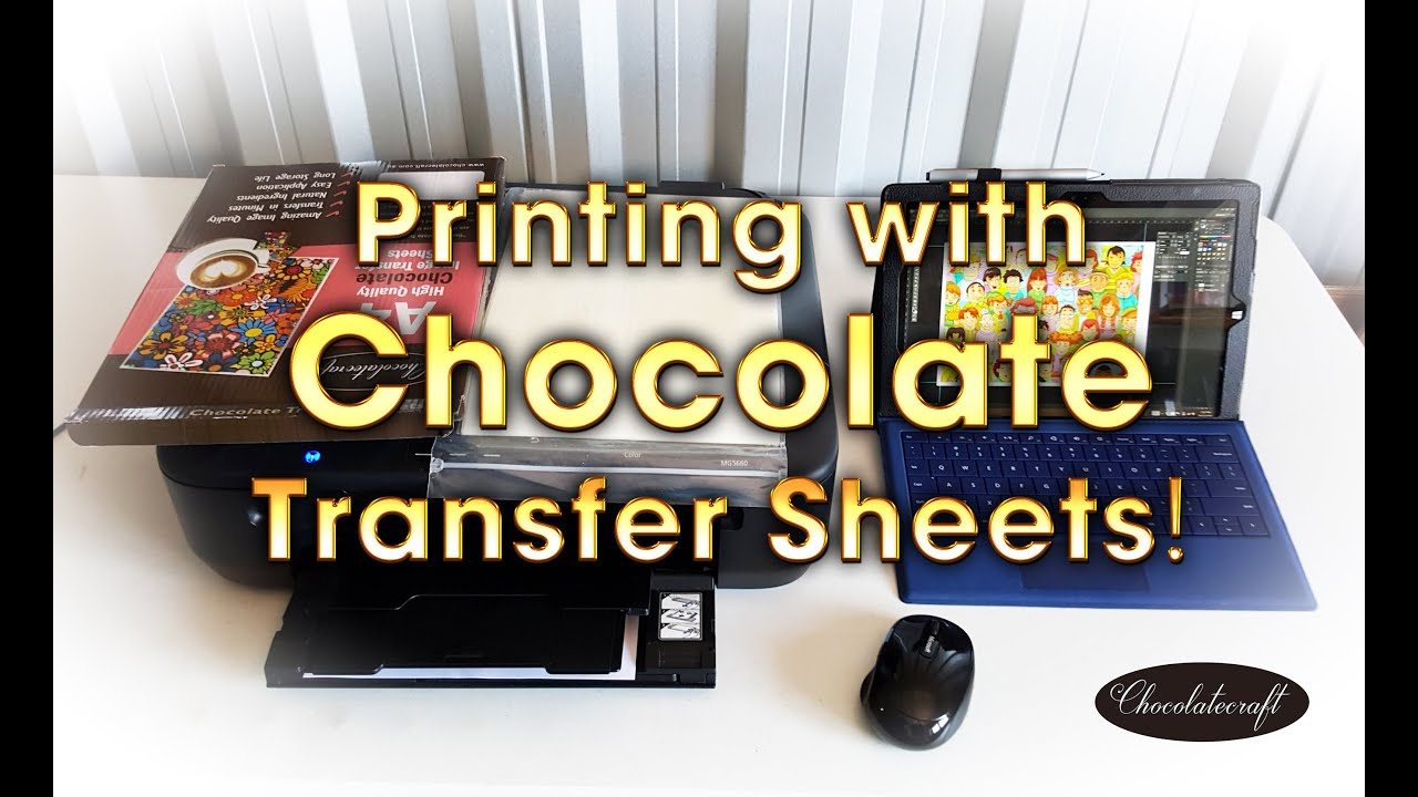 Print Images Photos Using Chocolate Transfer Sheets