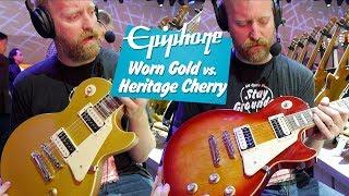 NEW! Epiphone Classics - Worn Gold and Heritage Cherry Sunburst - NEW HEADSTOCKS! - #NAMM2020