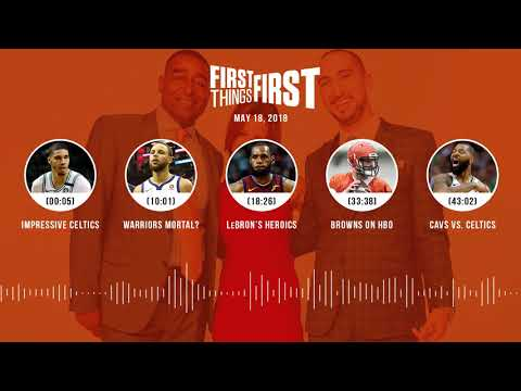 First Things First audio podcast(5.18.18) Cris Carter, Nick Wright, Jenna Wolfe | FIRST THINGS FIRST
