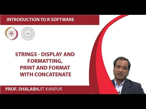 Strings - Display and Formatting, Print and Format with Concatenate