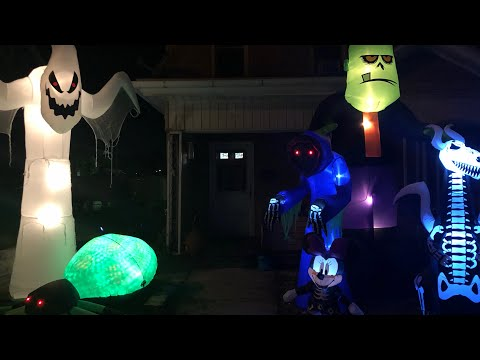 Halloween Inflateables At Night | Review & Closer Look