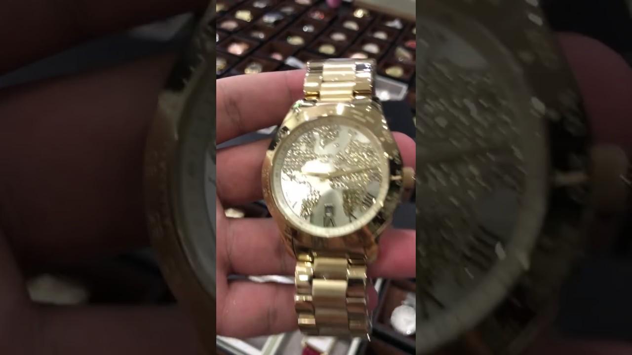 Michael kors unisex layton world map gold tone crystal glitz watch michael kors unisex layton world map gold tone crystal glitz watch mk5959 gumiabroncs Choice Image