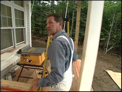 Constructing Tapered Porch Colums With Preprimed