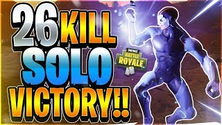 26 KILL SOLO VICTORY!! SOLO WORLD RECORD ATTEMPT #4 (Fortnite Battle Royale)