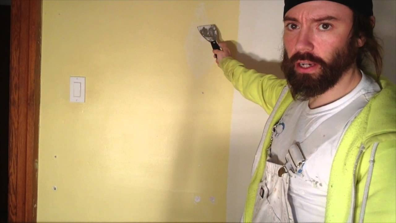 Wall Repair- Fixing anchor and Nail Holes Using Old Dried Spackle ...