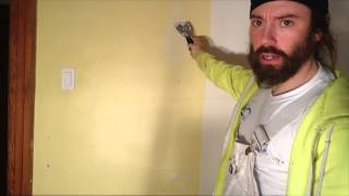 Wall Repair- Fixing anchor and Nail Holes Using Old Dried Spackle