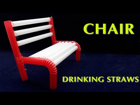 Creative: How to make chair with drinking straws simple | Recycling Drinking Straws