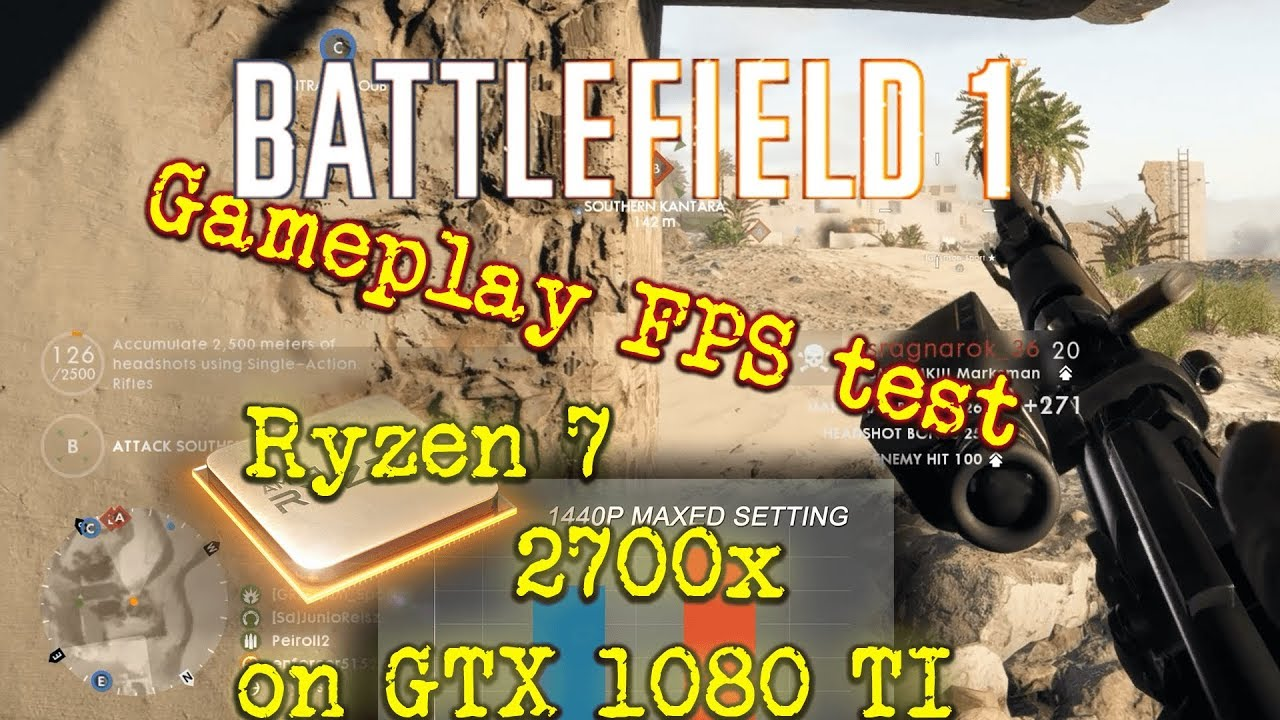 Ryzen 7 2700x battlefield 1 tests 1440p, 1080p Ultra and low settings |  battlefield 1 Benchmark