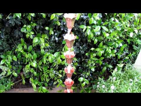 Pure Copper Rain Chain - Tulip Style