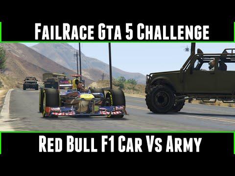 FailRace Gta 5 Challenge Redbull F1 Car Vs Army