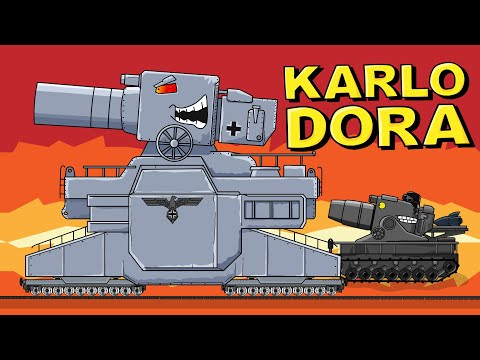 """KARLODORA - Monster Creation"" Cartoons about tanks"